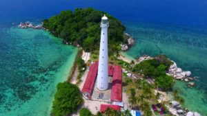 Mercusuar pulau Lengkuas, icon Belitung