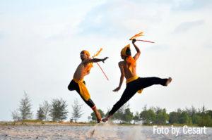 Beripat adalah kesenian pertunjukan masyarakat Belitung untuk menunjukkan kejantanan seorang lelaki dengan cara saling memukul menggunakan senjata rotan.