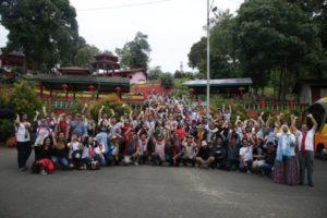 Rombongan PT ASM Classy mengunjungi Vihara Dewi Kwan Im di Beltim