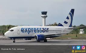 Pesawat Expressair yang akan mengangkut Wisatawan ke Belitung