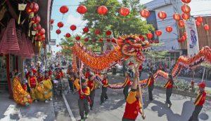 Penampilan parade Barongsai dan Naga